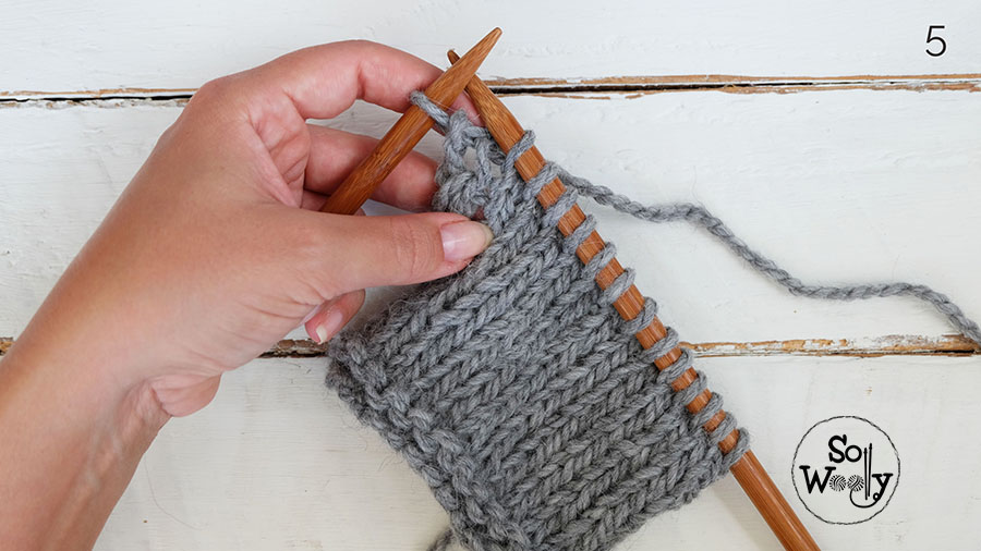 Knitting backwards technique no purling