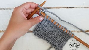 Stockinette stitch only knitting