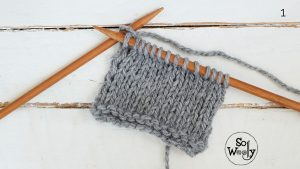 Stocking stitch without purling