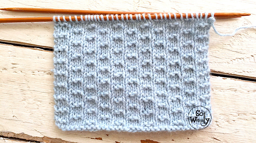 How to knit the Double Andalusian stitch: A four-row repeat pattern that doesn't curl. So Woolly.