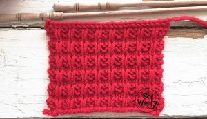 How to knit the Waffle knitting stitch pattern step by step