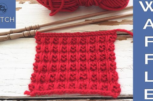 My version of Waffle knitting stitch So Woolly