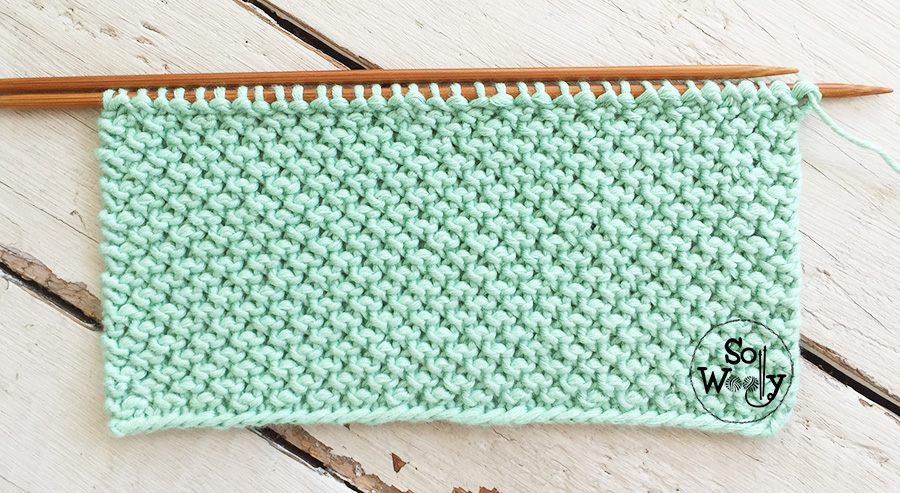 Twisted Knot knitting stitch pattern and video tutorial. So Woolly.
