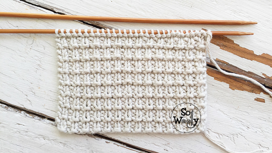 Free easy reversible knitting patterns for beginners. So Woolly.