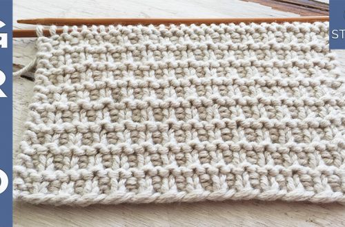 Grid knitting stitch pattern reversible it doesn't curl