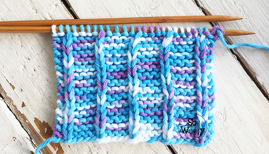 Vertical stripes knitting stitch: An easy, unisex pattern that don't curl. So Woolly.