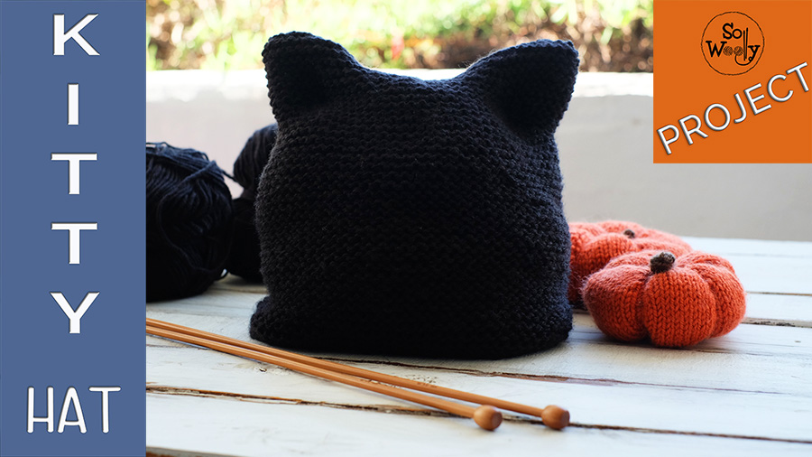 How to knit the easiest Kitty Cat Hat for Halloween