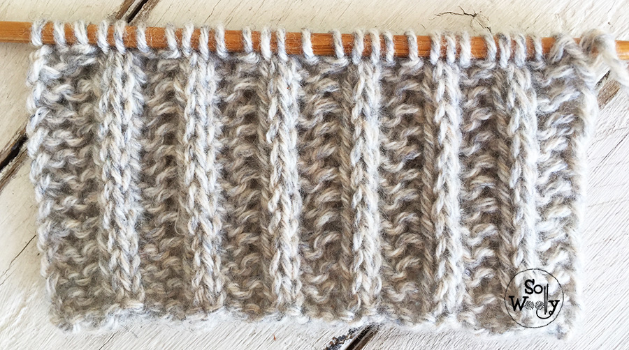 How to knit the Double slip-stitch Rib: An easy, reversible pattern. So Woolly.