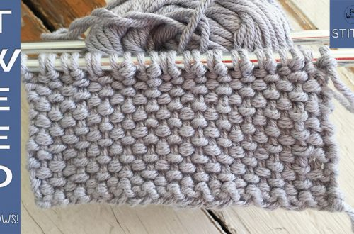 How to knit the Tweed stitch