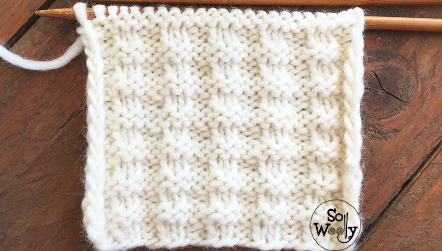 Reversible knitting patterns for beginners: Free written instructions and video tutorial. So Woolly.