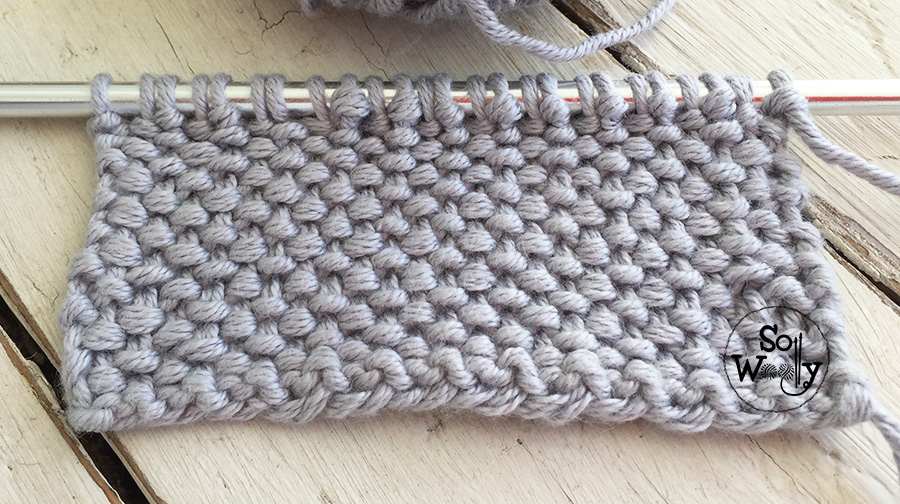 Tweed stitch knitting pattern and video tutorial. So Woolly.