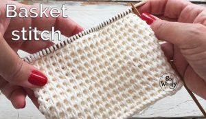 Basket stitch knitting pattern