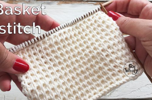 Basket stitch knitting pattern