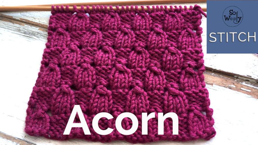 Acorn stitch knitting pattern