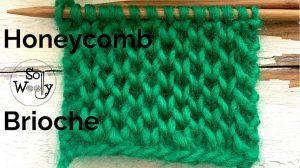 Honeycomb Brioche knitting stitch pattern