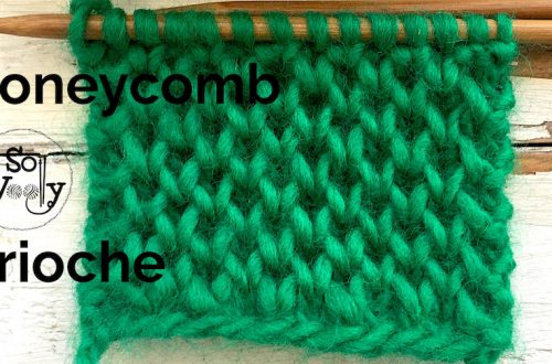 Honeycomb Brioche knitting stitch pattern