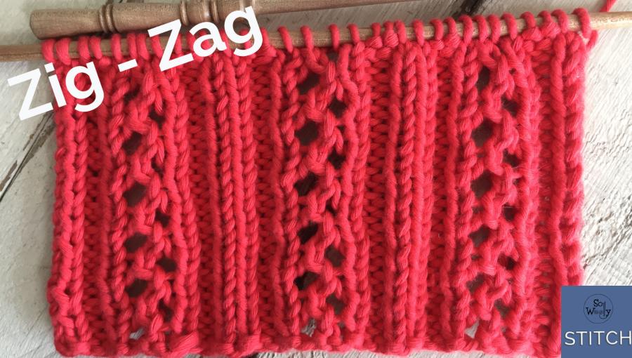 Zig Zag lace knitting stitch pattern that doesn't curl