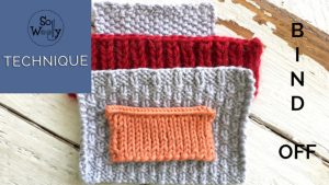 Four knitting techniques to bind off different stitches