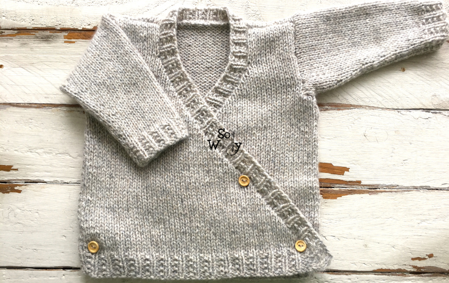 Baby Jacket free knitting pattern: Easy, quick, and fun to knit, this pattern comes in 2 sizes. So Woolly.