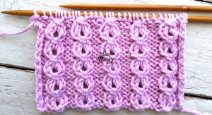 Baby Eyelet Cables stitch pattern