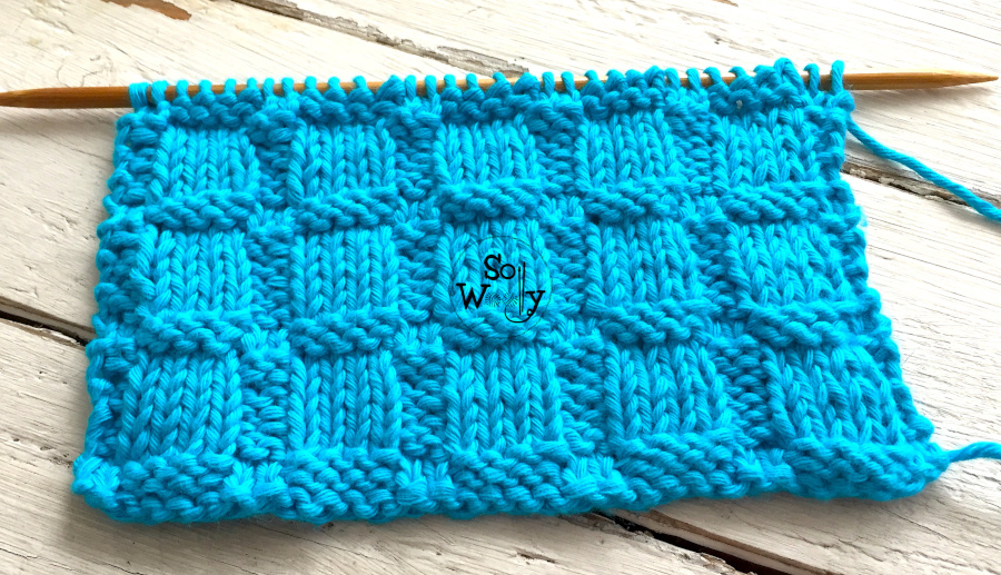 Embossed Blocks: A reversible knitting stitch pattern, that doesn't curl. So Woolly.
