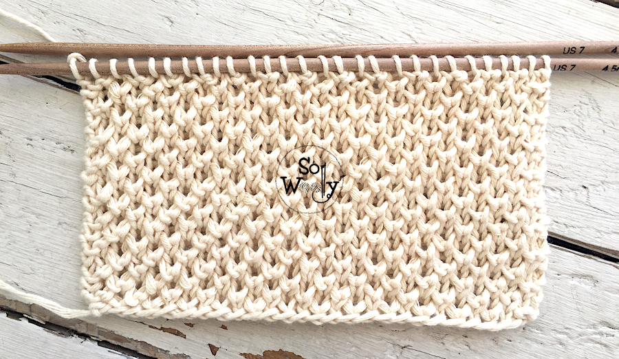 Half Brioche knitting pattern, an adorable stitch that doesn't curl. So Woolly.