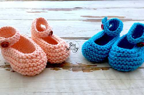 How to knit Baby Toddler Shoes using straight needles
