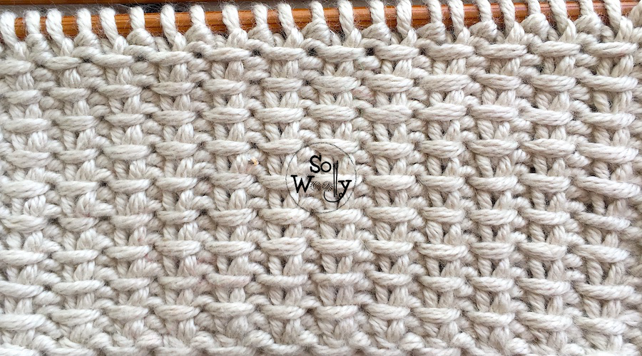 How to knit the Jute stitch pattern