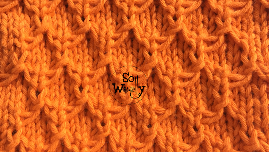 How to knit the Mermaid stitch pattern
