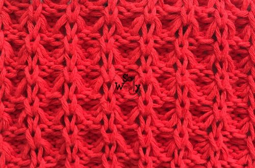 How to knit the Scrunchy Stitch pattern for Summer and Winter garments