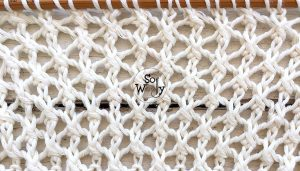 How to knit the Cell stitch pattern