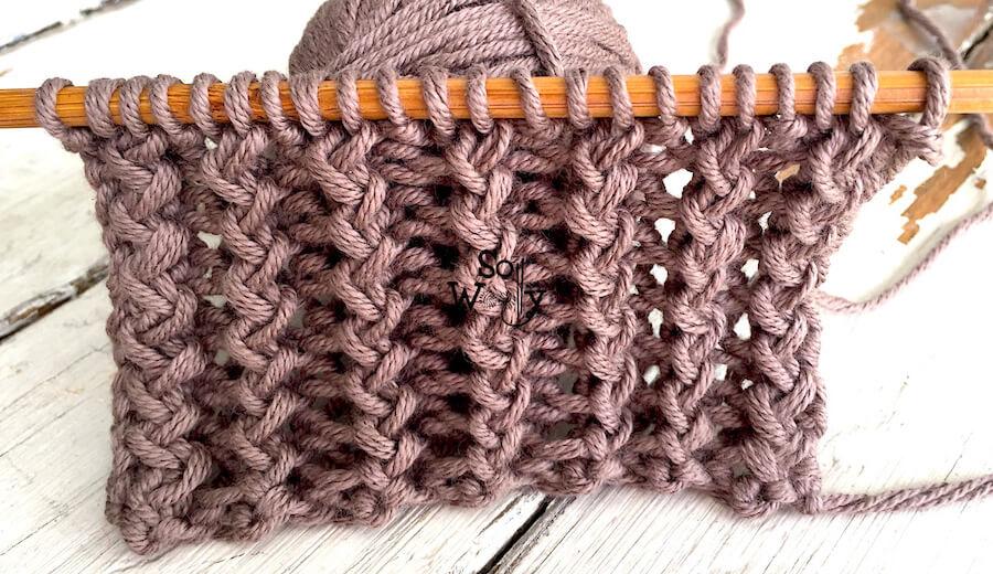 How to knit the Rickrack Rib stitch