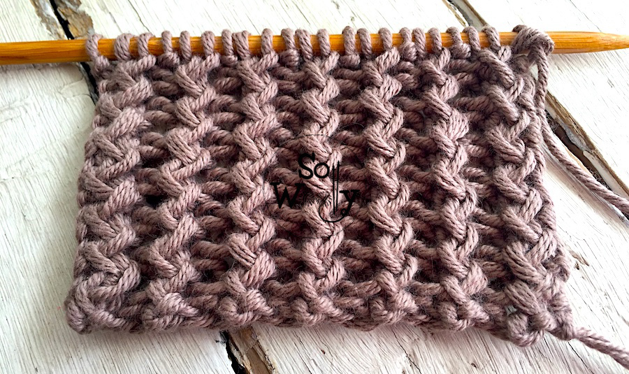 How to knit the Rickrack Rib stitch, step-by-step. A unisex stitch, that lays flat. So Woolly.