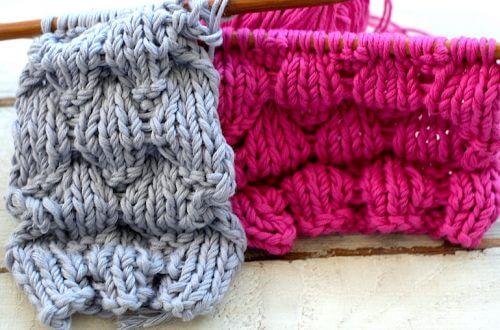 Puffy stitch knitting pattern