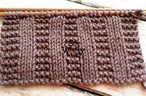 Garter stitch Rib