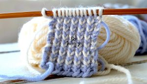 How to knit the Two-Color Reversible Ribbing