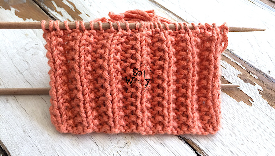 Mock English Rib: A two-row reversible knitting pattern (identical on both sides). So Woolly.