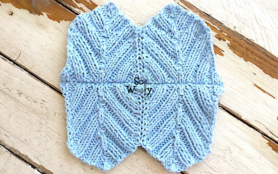 Ribbed Chevron knitting stitch pattern and tutorial. So Woolly.