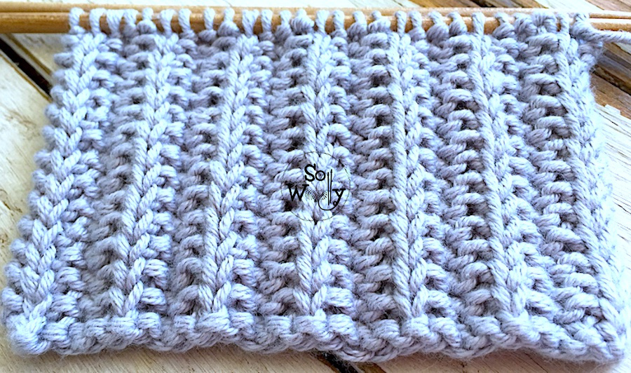 Two-row knitting stitch perfect for scarves