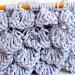 3D Crocodile stitch knitting pattern