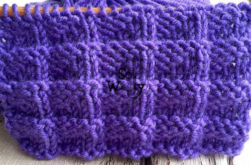 How to knit the Pennant stitch pattern