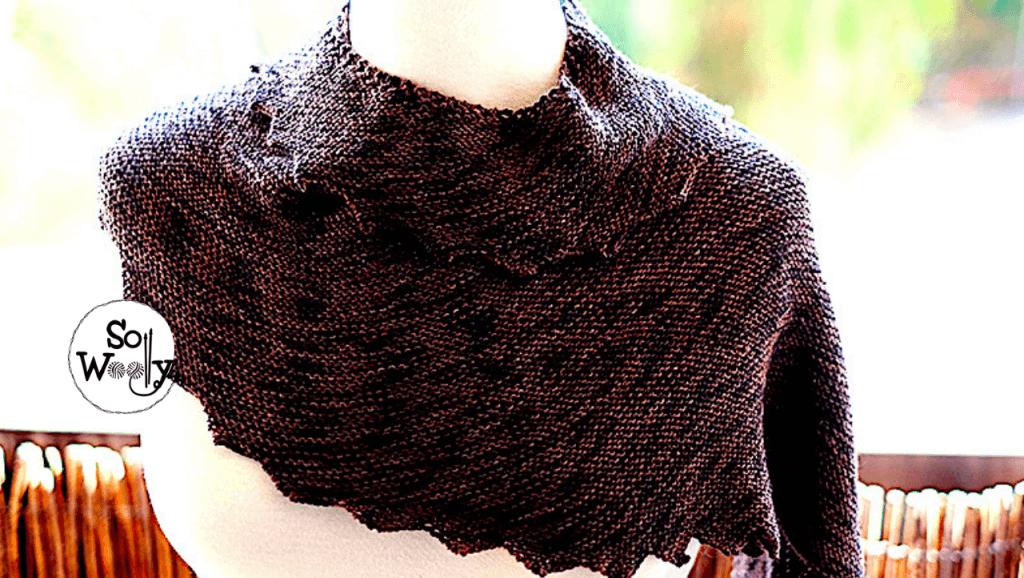Super easy garter stitch shawl for beginners. So Woolly.