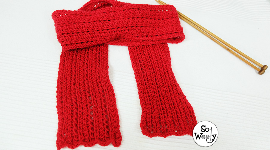 Feather Lace Knit Stitch pattern for beginners. So Woolly.
