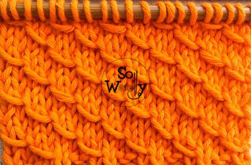 How to knit the Diagonal Flakes stitch pattern
