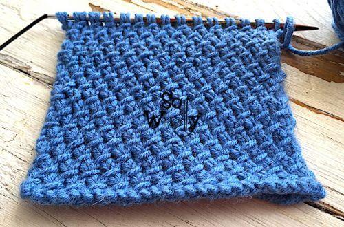 How to knit the Purl Twist stitch pattern